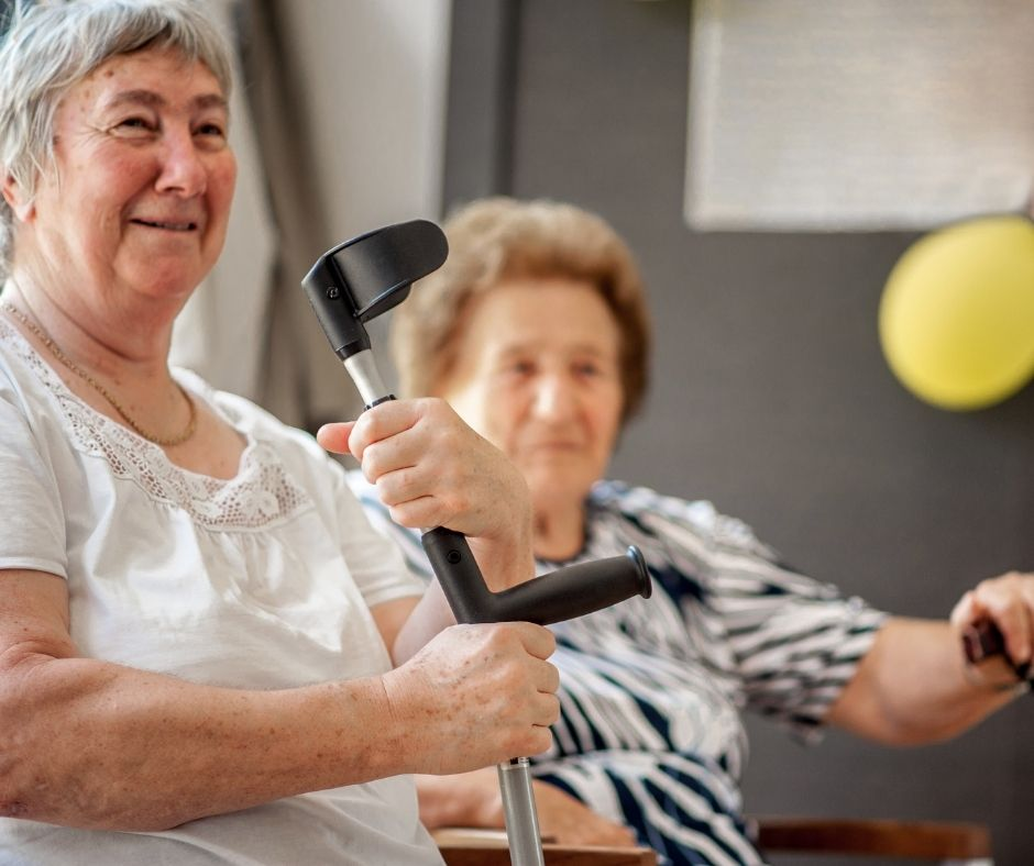 Elderly ladies and mobility