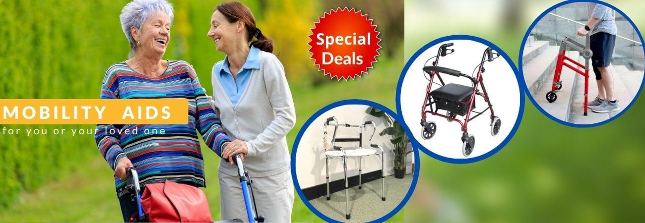 Banner mobility aids specials April