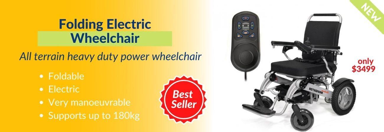 navigator folding electric wheelchair