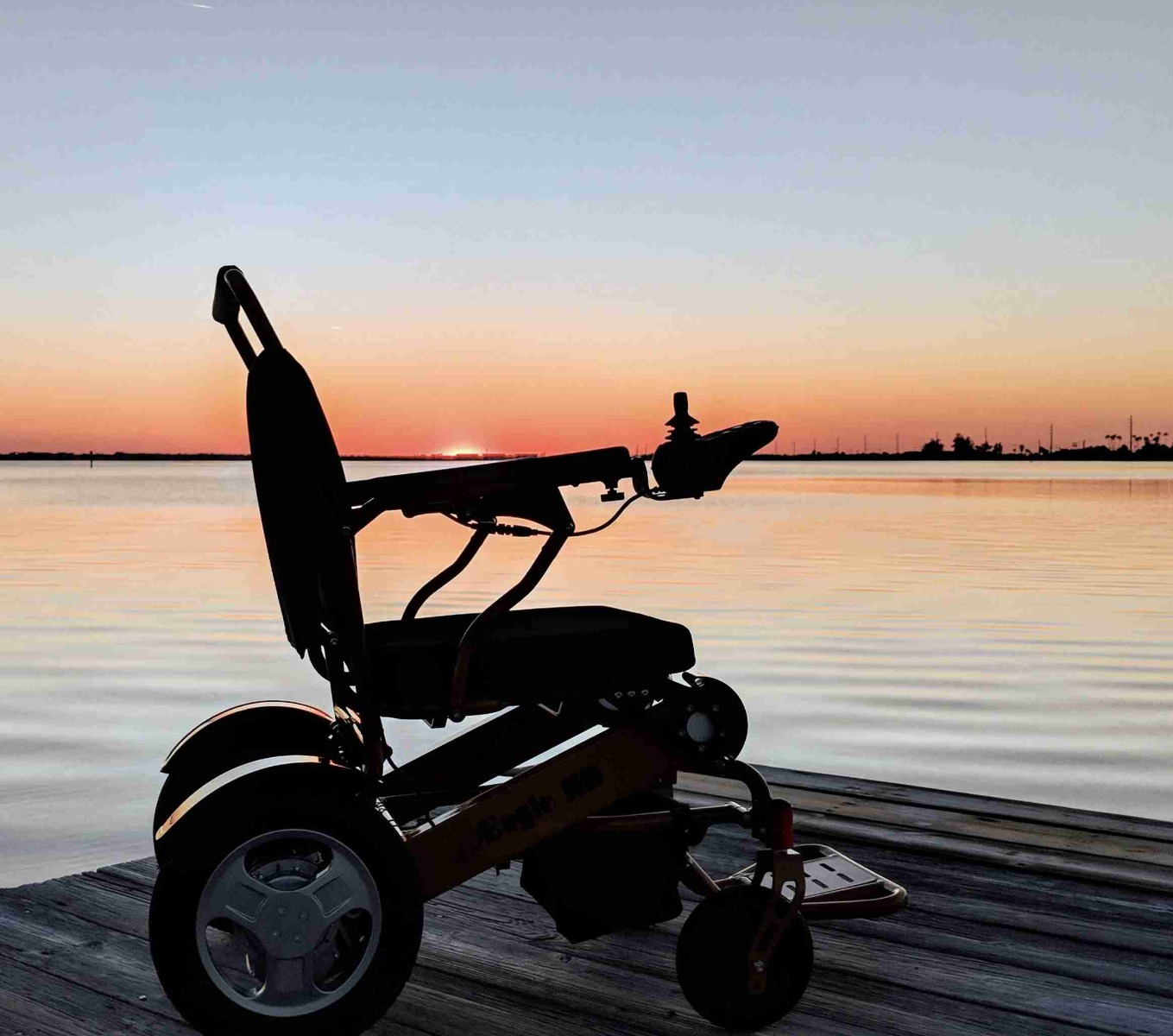 Electric Wheelchair on jetty