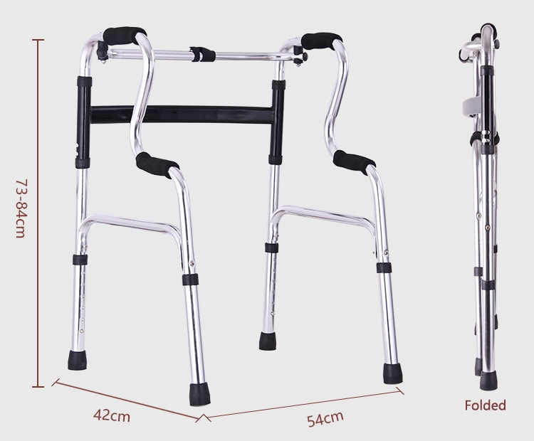 Foldable mobility walker