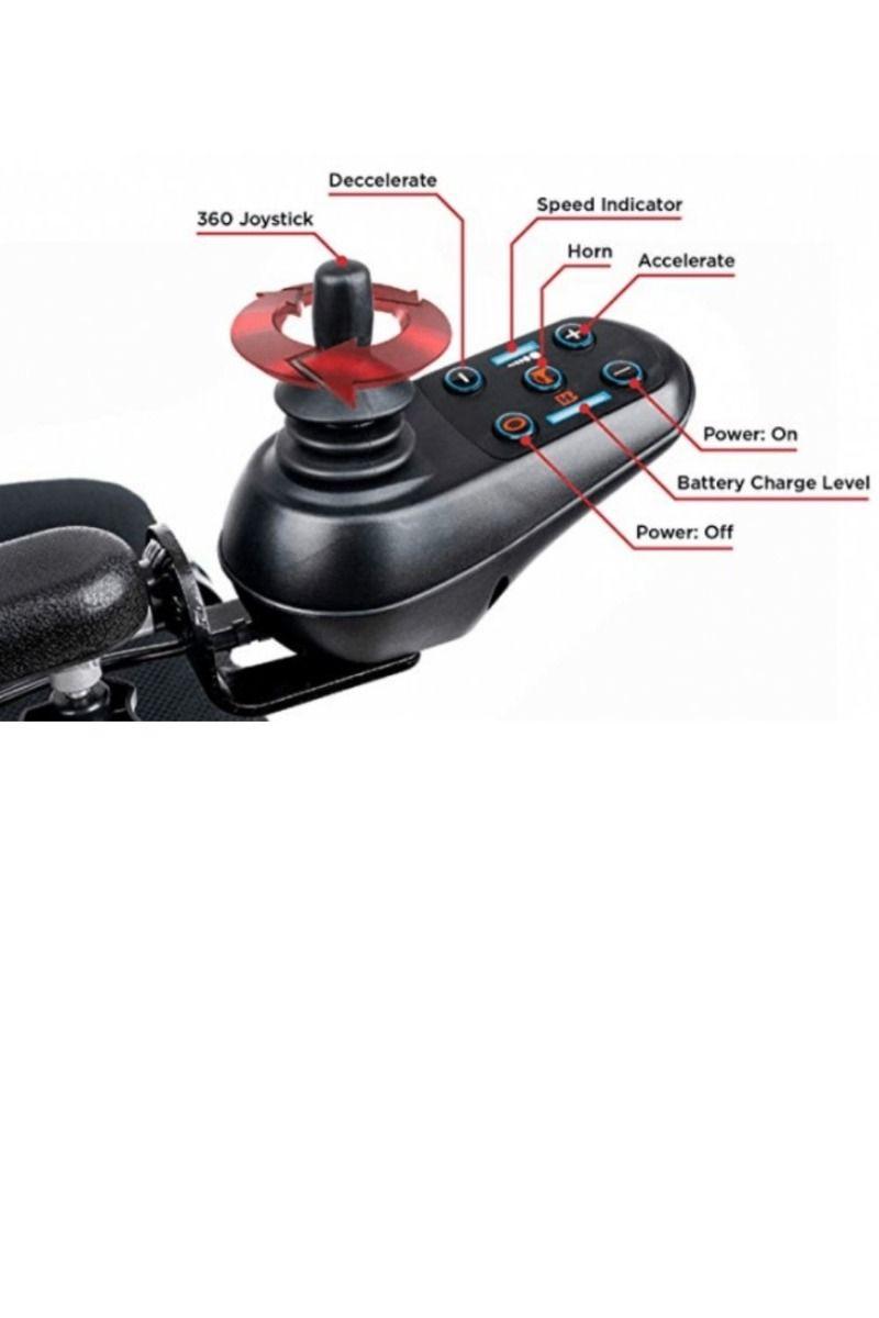 Joystick on Folding Electric Wheelchair EagleHD_bettercaremarket