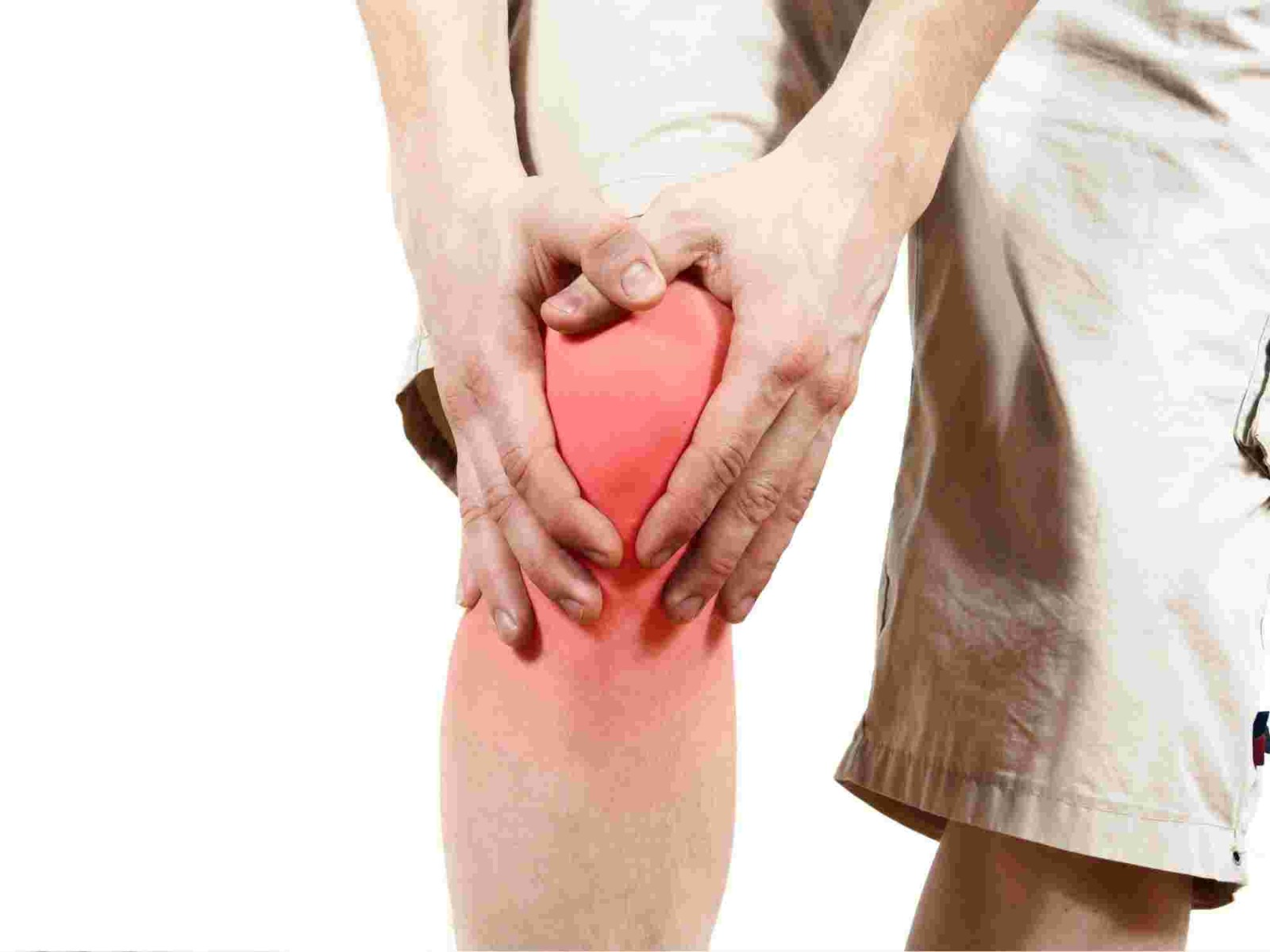 Inflamed arthritis knee
