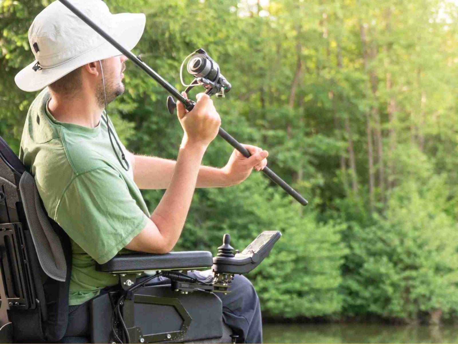 Man fishing in electric wheelchair_bettercaremarket
