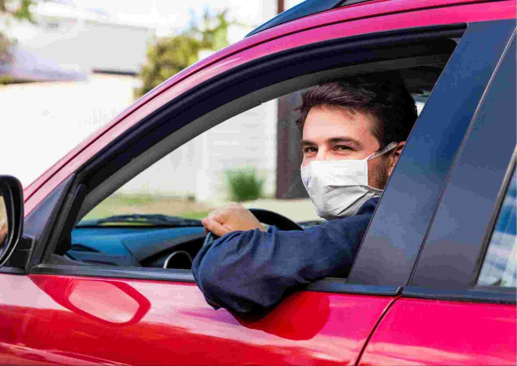 Man with face mask in car_bettercaremarket