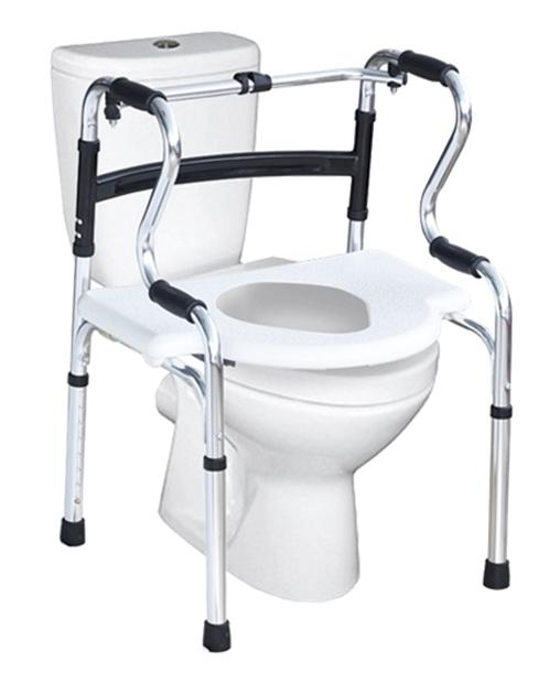 Multifunctional Chair as raised toilet seat