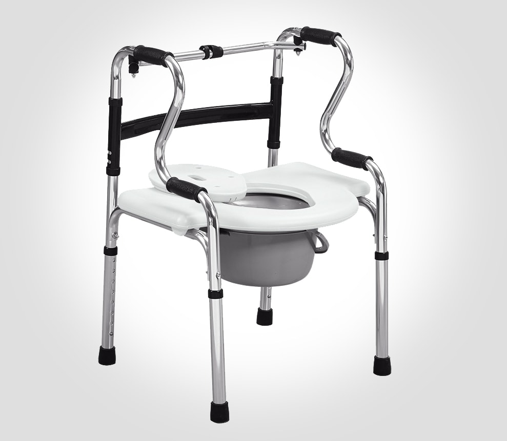 Multifunctional chair as bedside commode chair
