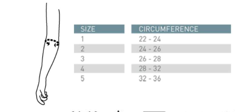 Elbow brace sizes