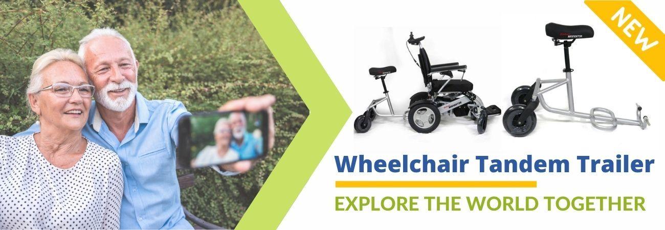 Navigator and tandem wheelchair