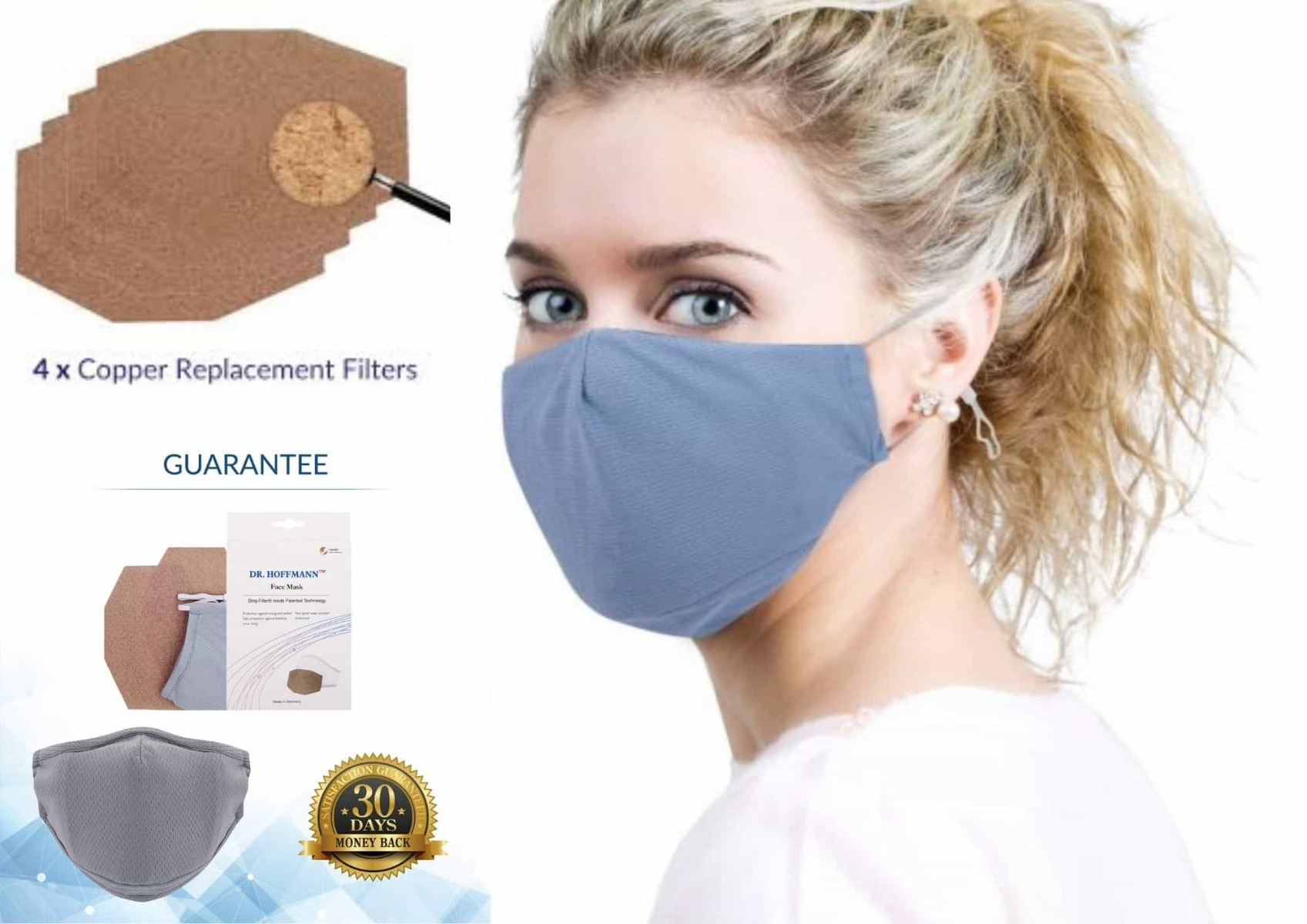 Copper filter facemask by Dr Hoffmann