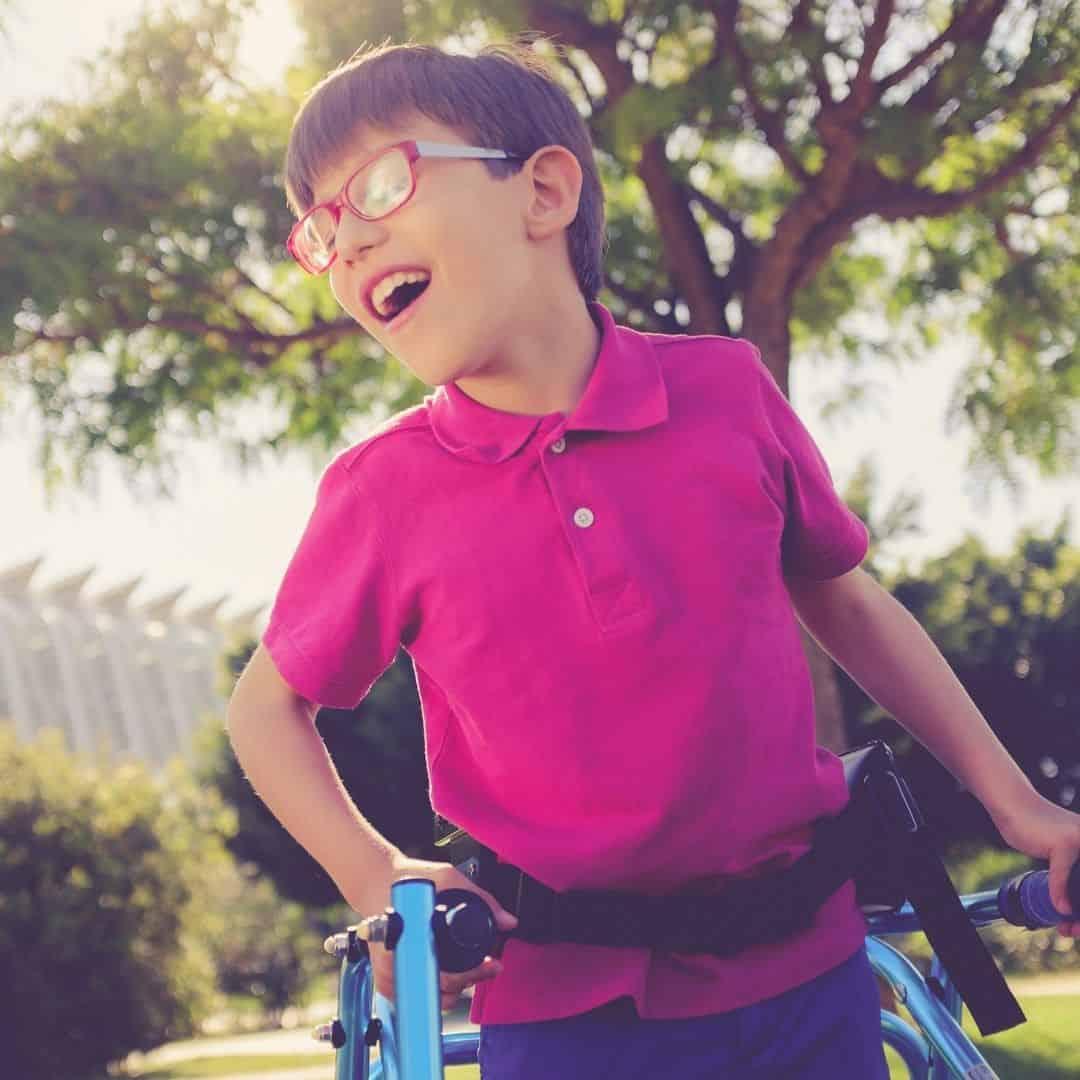 Boy in walking frame Steptember_bettercaremarket