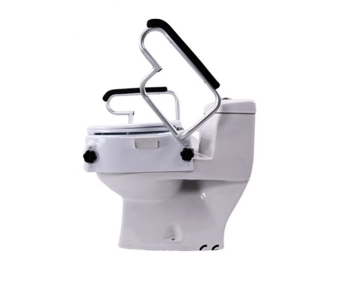 Raised Toilet Seat with armrests_bettercaremarket